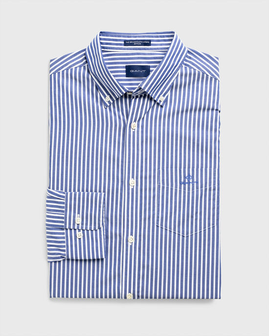 Camicia in broadcloth a righe regular fit