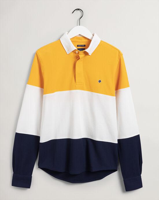 Rugger-camicia in jersey a maniche lunghe