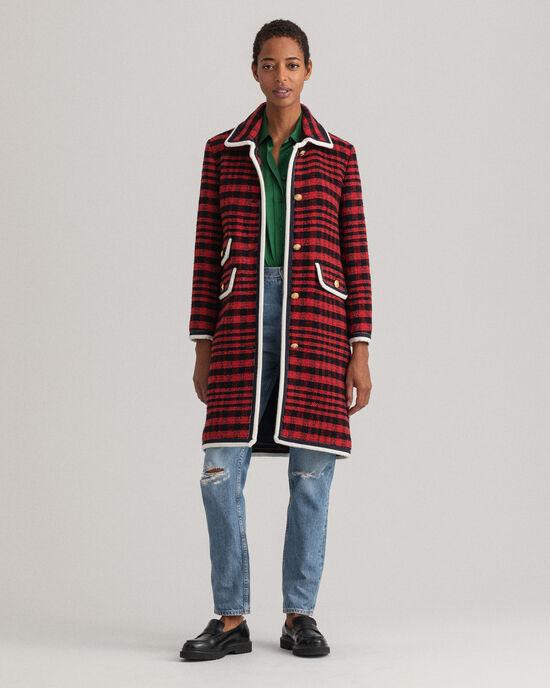 Cappotto in tweed a quadri Bold