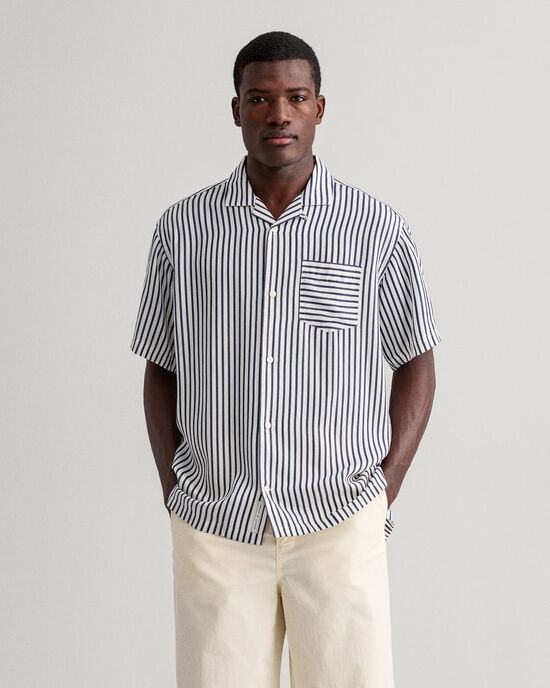 Camicia a righe relaxed fit