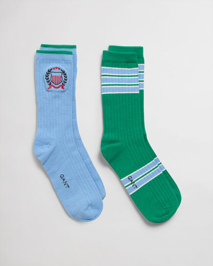 Confezione regalo da 2 paia di calzini con stemma