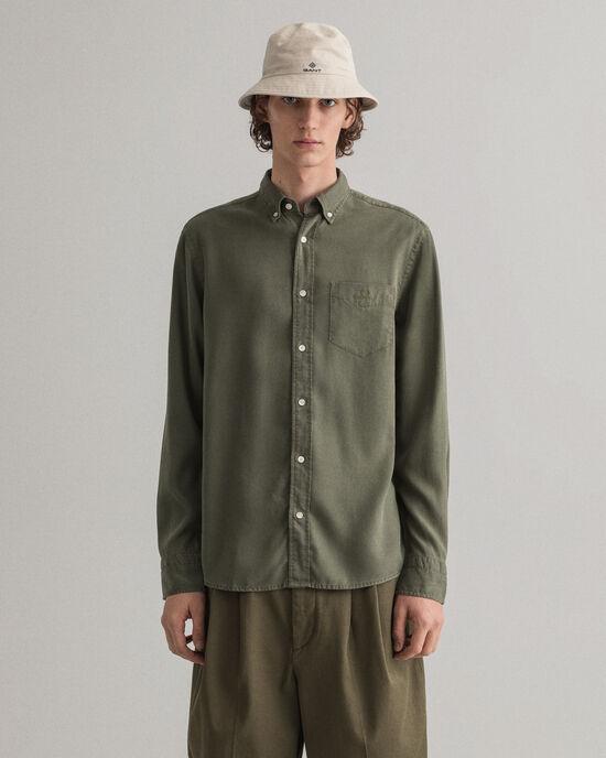 Camicia in lyocell tinto in capo Pure Prep regular fit
