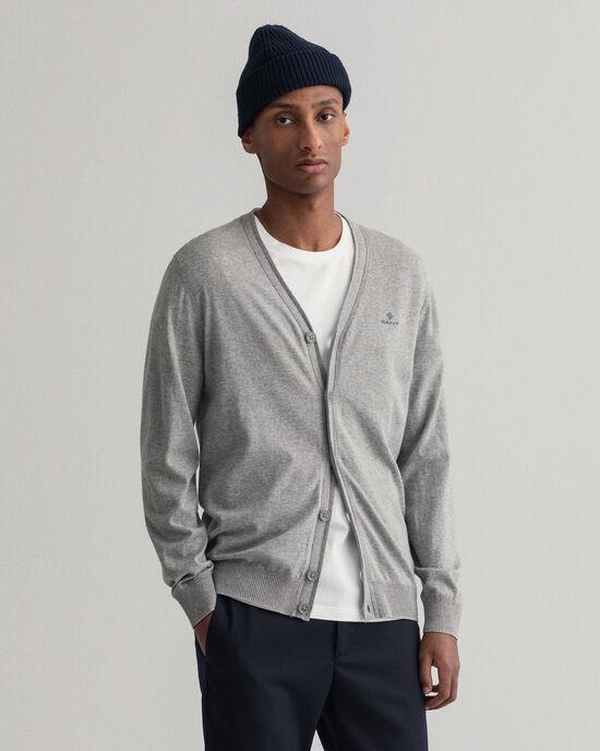 Cardigan in cotone e cashmere