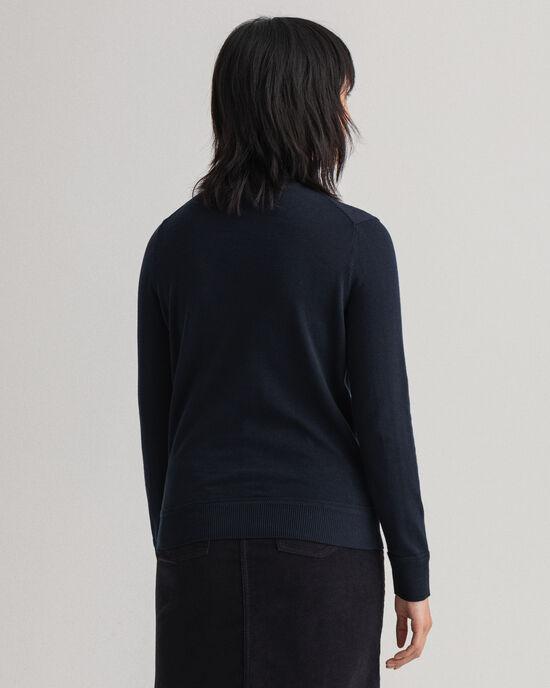 Maglia a collo alto in cotone leggero