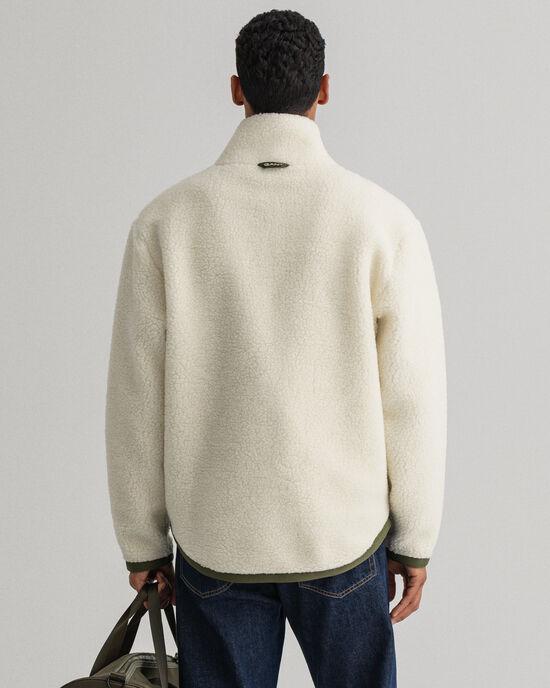 Giacca in pile di misto lana