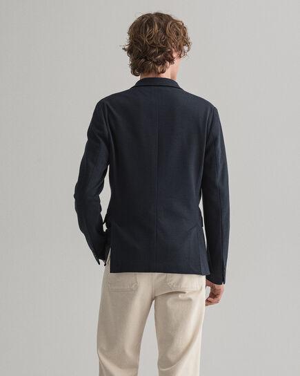 Blazer in jersey con mini motivo