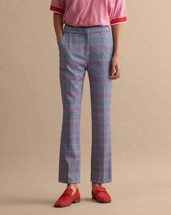 Pantaloni a sigaretta in jersey a quadri