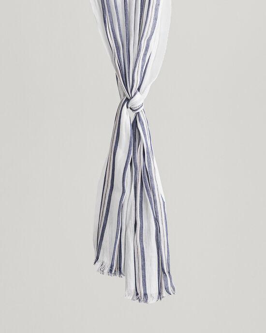 Sciarpa in lino e cotone a righe
