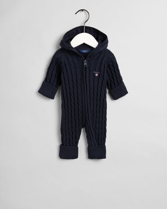 Tutina a trecce con zip in cotone Baby