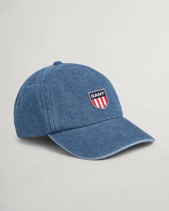 Cappellino in denim Retro Shield