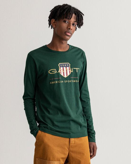 T-shirt Archive Shield a maniche lunghe