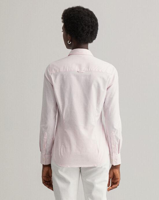 Camicia Oxford elasticizzata a righe Banker