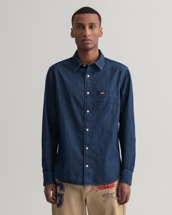 Camicia in chambray regular fit
