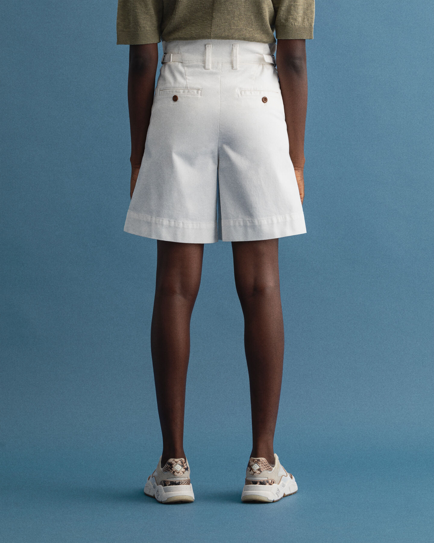 Pantaloncini in tela Nautical