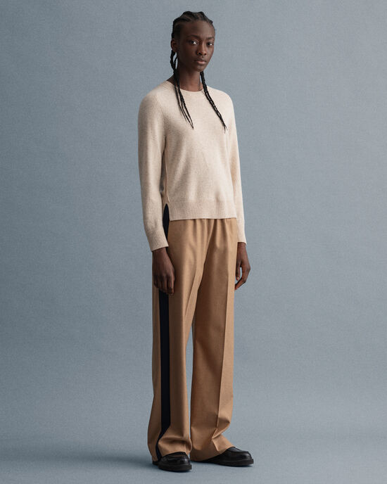 Pantaloni eleganti in misto lana dritti