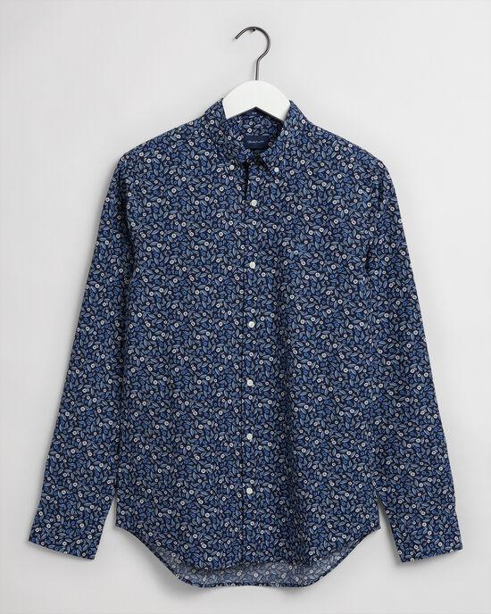 Camicia con stampa Leaf slim fit