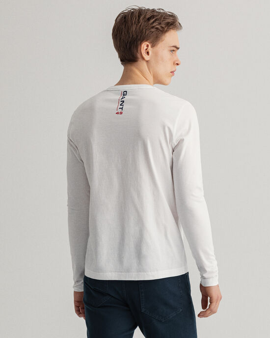 T-shirt Retro Shield a maniche lunghe