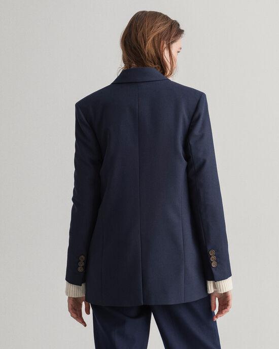 Blazer in misto lana oversize