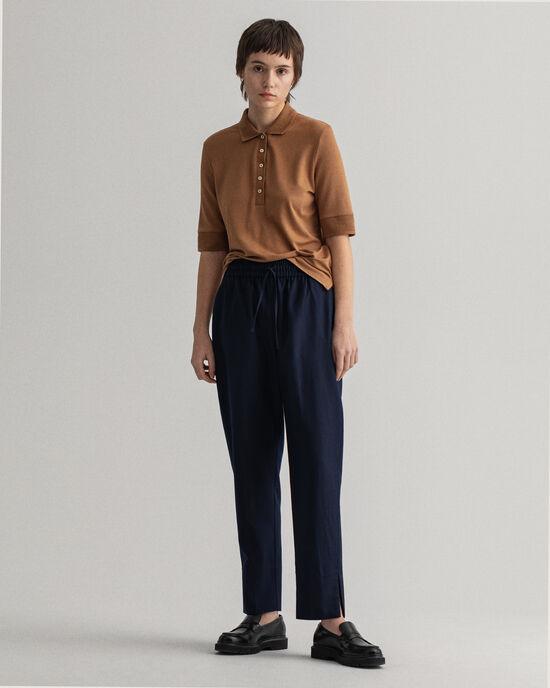 Pantaloni in misto lana pull-on