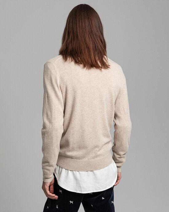 Maglia con scollo a V in lana d'agnello extrafine