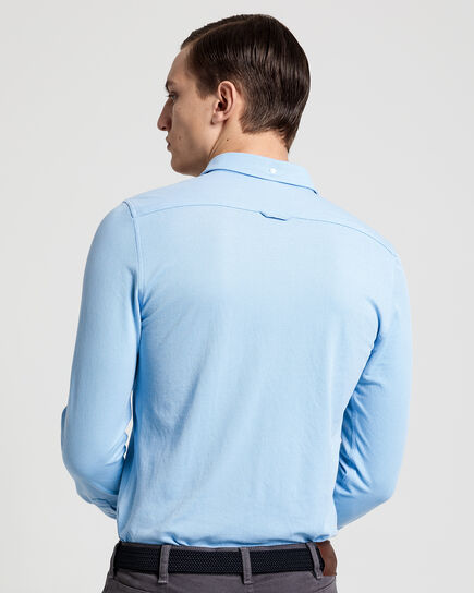 Camicia Tech Prep™ in piqué slim fit