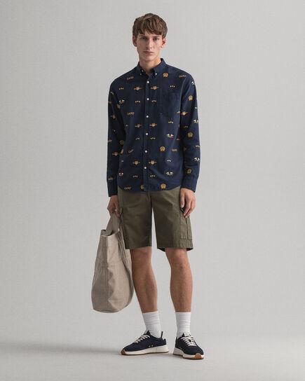 Pantaloncini utility in twill regular fit
