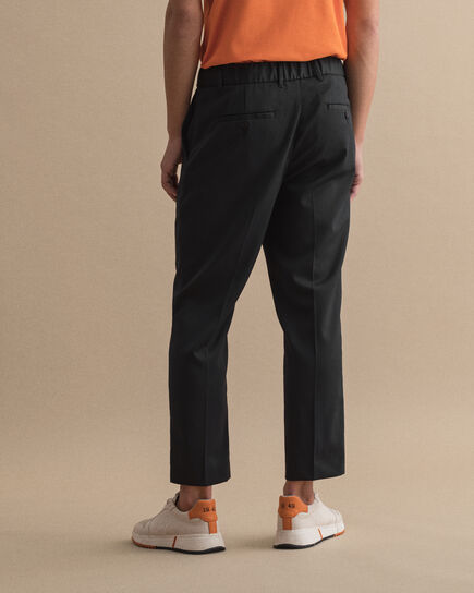 Joggers in twill con coulisse