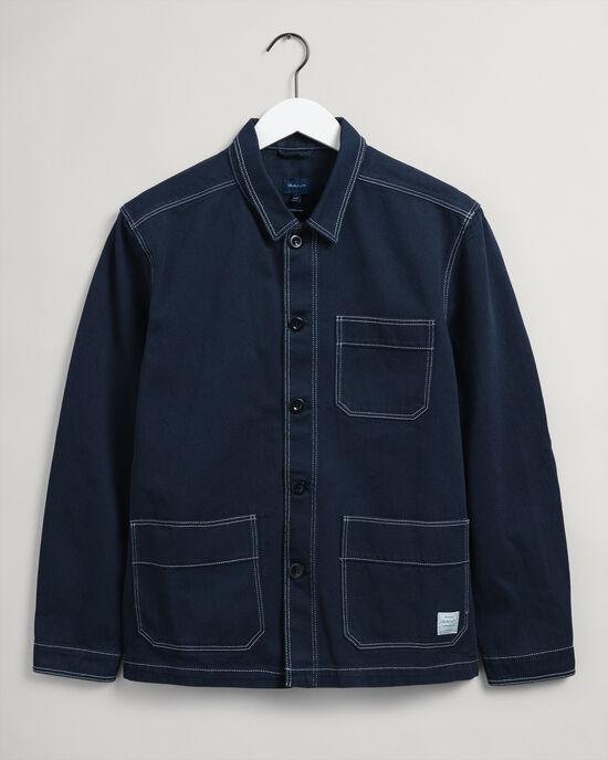 Camicia giacca in twill di cotone biologico