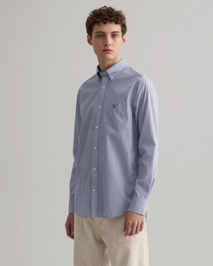 Camicia in broadcloth a righe Banker regular fit