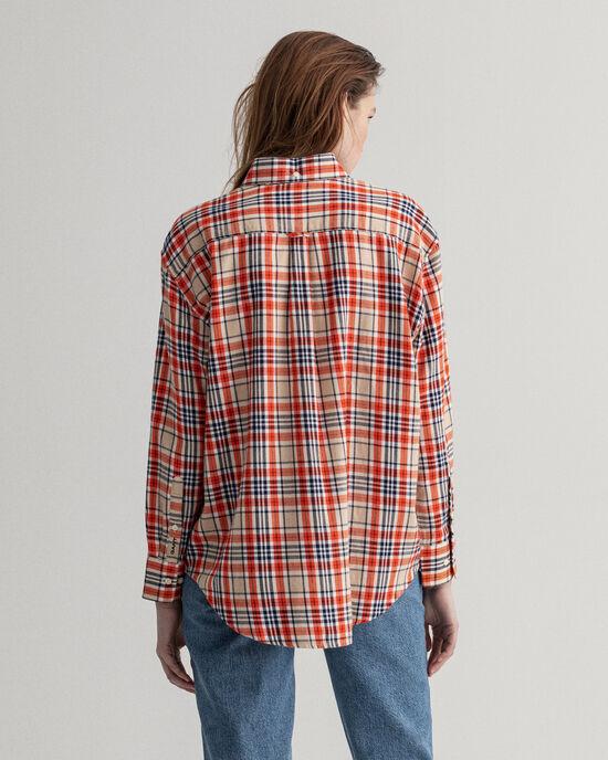 Camicia in flanella a quadri relaxed fit