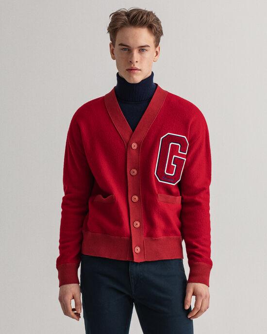 Cardigan in lana cotta