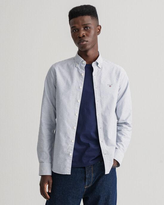 Camicia Oxford a righe Banker slim fit