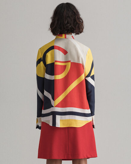 Camicia Iconic G colorblock