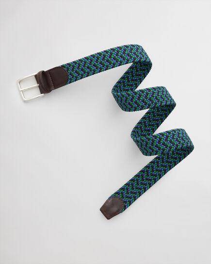 Cintura intrecciata elasticizzata con motivi