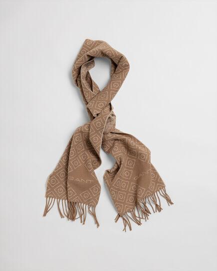 Sciarpa in lana con stampa Iconic G