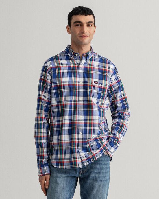Camicia a quadri délavé regular fit