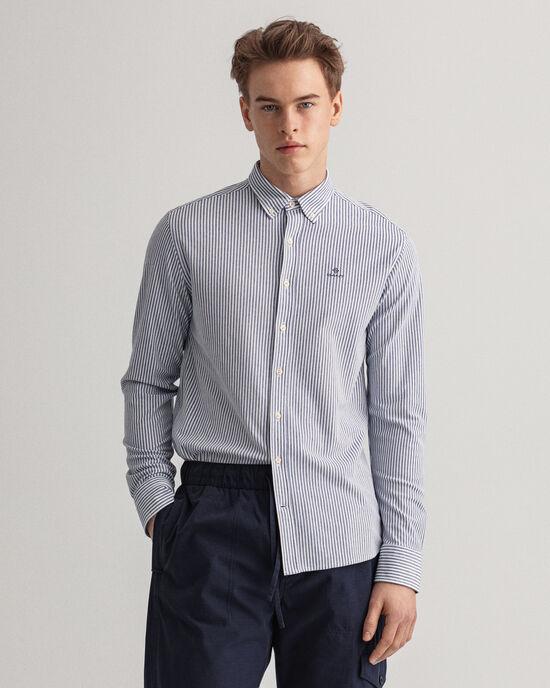 Camicia Tech Prep™ in piqué a righe regular fit