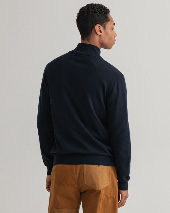 Cardigan Classic con zip in cotone