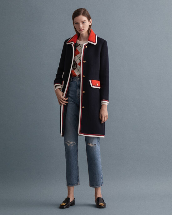 Cappotto in tweed Bold Contrast