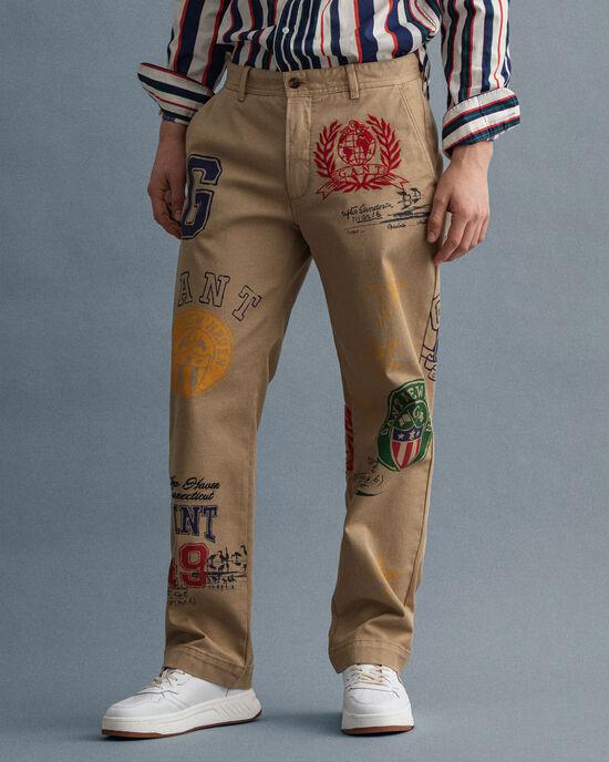 Pantaloni chino Crest