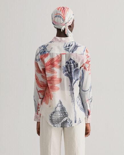 Camicia Seashell in misto seta e cotone