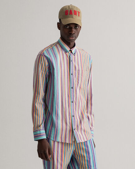 Camicia Oxford Windblown a righe relaxed fit