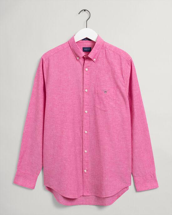 Camicia in lino-cotone regular fit