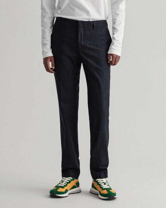 Pantaloni da abito in flanella a scacchi
