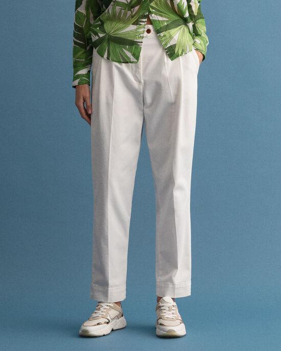 Pantaloni chino a vita alta con piega