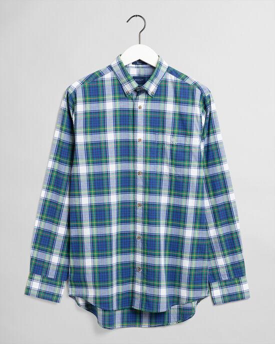 Camicia in broadcloth délavé a quadri regular fit
