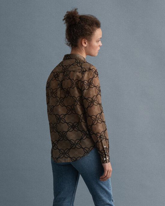Camicia Rope in seta e cotone