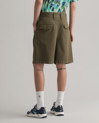 Pantaloncini con pinces relaxed fit