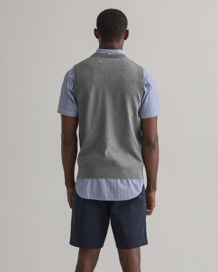 Gilet in maglia di cotone Classic