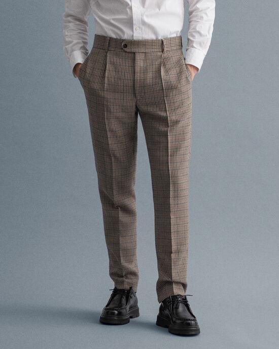 Pantaloni da abito pied-de-poule